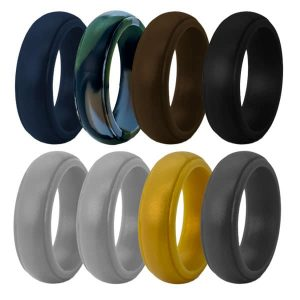 Bevelled Edge Silicone Rings