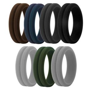 Grooved Silicone Rings