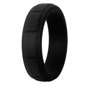 Black Cube Silicone Ring