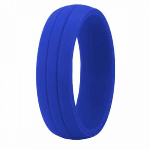 Blue Crossfit Silicone Ring