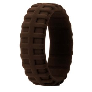 Brown Tire Pattern Ring