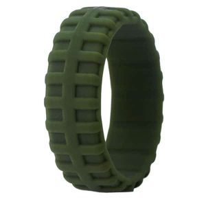 Olive Tire Pattern Ring