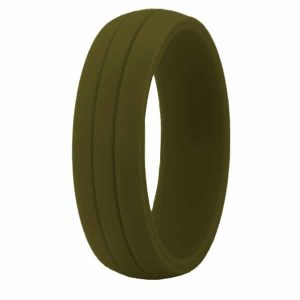 Olive Crossfit Silicone Ring