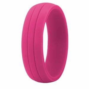 Pink Crossfit Silicone Ring
